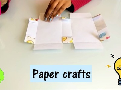 How to make a gift box out of a paper | easy paper craft ideas for kids | paper crafts|s19 creations