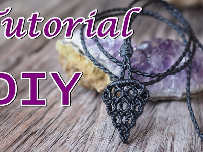 How to make a macrame sliding knot and end of the necklace#3