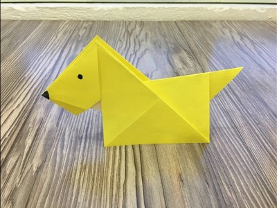 How to make a paper dog - Origami dog.