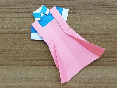 How to make a Paper Dress - Easy Origami Dress