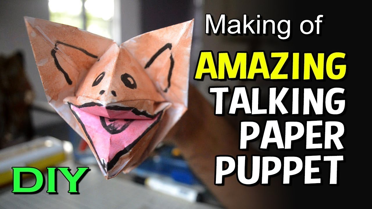 How To Make A Paper Finger Puppet | Talking Paper Puppet for kids