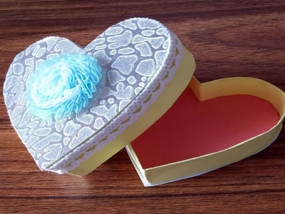 How to make a paper heart box.