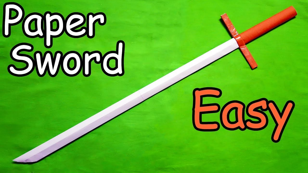 How to make a Paper Sword (Easy) Tutorial