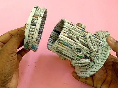 How to make a Storage box.Jewel Box  Using Newspaper | All type Videyos