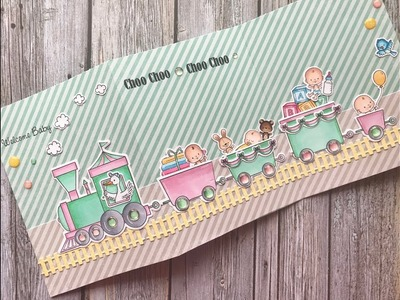 How To Make A Tri Fold Baby Card   Your Next Stamp   Stamp Create Repeat