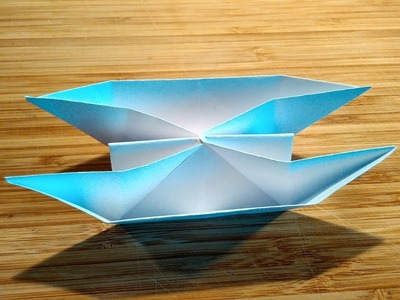 How to make a Twin Boat using paper. Twin boat origami