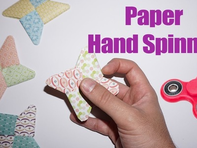 How to make an easy paper diy hand spinner origami for kids ?
