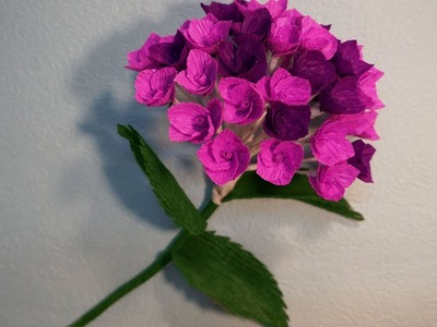 How to make Beautiful Hydrangreas from paper crepe - DIY Tutorial - Coffee Filter Flowers