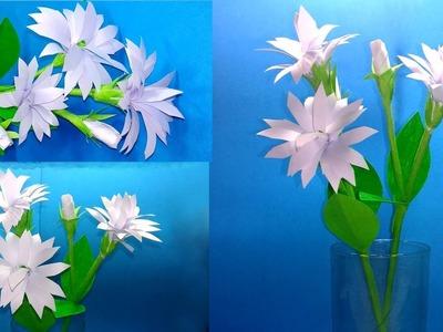 How to make beautiful paper Jasmine flowers   Paper Flowers  Jarine's Crafty Creation