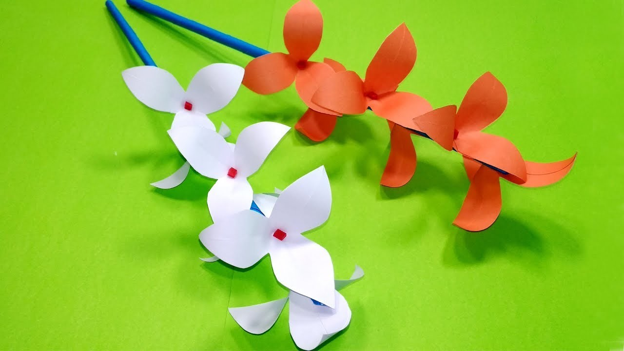 How to Make Beautiful Paper Flower Stick for Room Decoration | Jarine's Crafty Creation