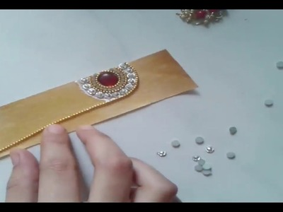 How to make Bollywood Style Paper Maang Tikka | DIY | made out of paper