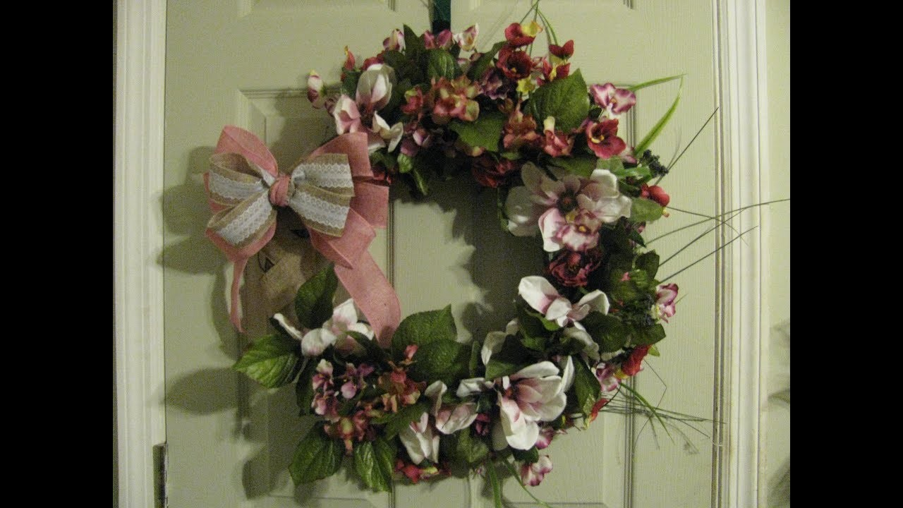How To Make Carmen's Japanese Magnolia Grapevine Wreath