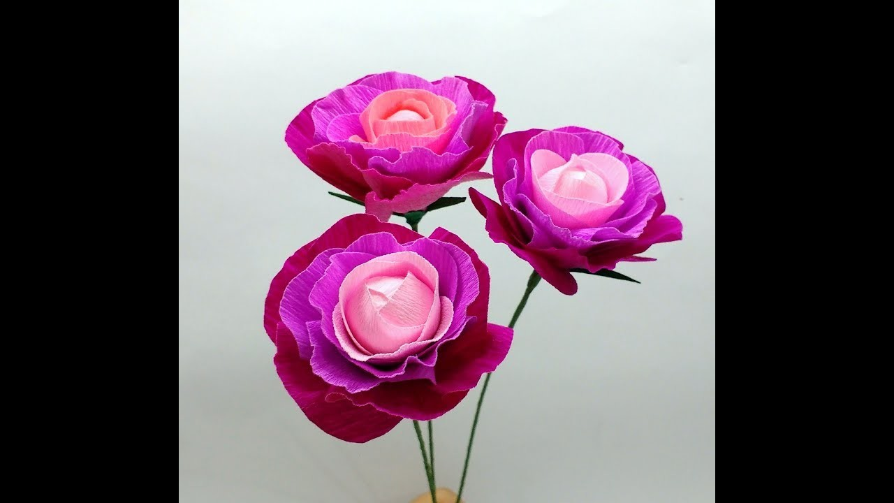 How To Make Crepe Paper Flowers Easy Flower 268