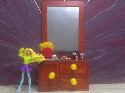 How to Make Dressing Table - Vanity Table For Dolls