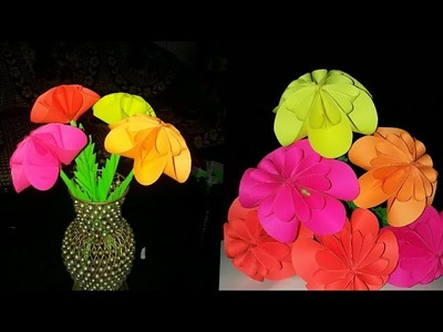 How to Make Easy, realistic,Beautiful  Paper Flower.How to make Paper Flower.DIY craft paper flower
