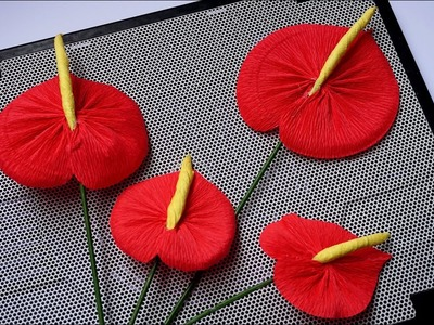 How to make handmade paper flower - Easy way to make Anthuriums From Paper