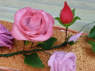 How To Make Italian Dough Rose.Attractive Pink Rose