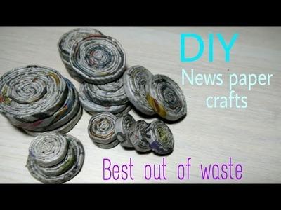 How to make news paper easy Wall decor frame | Diy photo frame