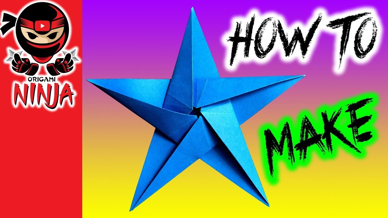 How to make: Origami Paper Star (w. music)