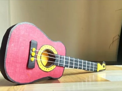 How to make paper guitar?