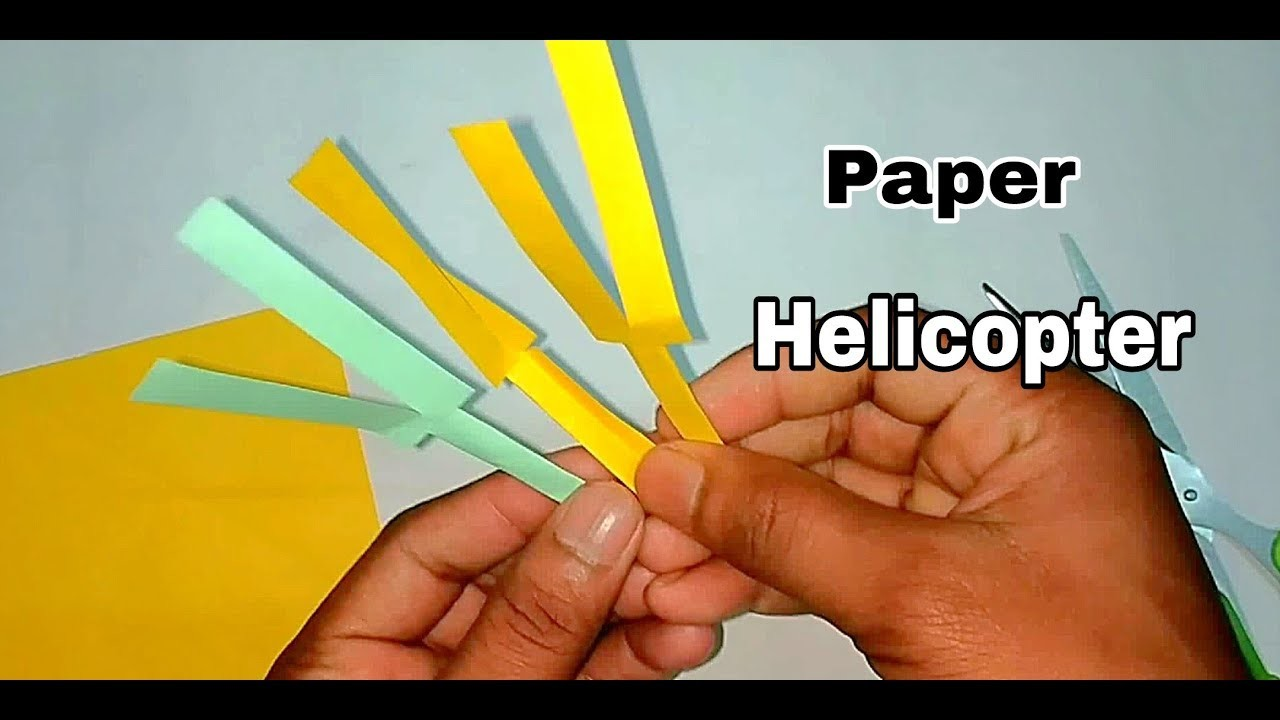 How to Make Paper Helicopter DIY