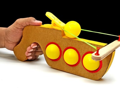 How To Make Ping Pong Ball Gun With Cardboard