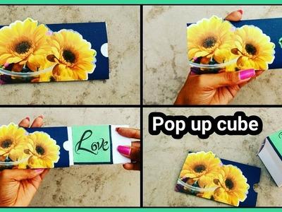 How to make Pop Up Cube Card with Envelope   हैंडमेड ग्रीटिंग कार्ड कैसे बनाये ? Mother Day Card  