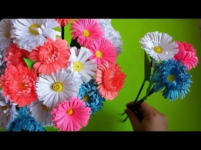 How to Make Realistic Paper Flover bouquet Stick. Very Easy To Make l Paper Craft Ideas