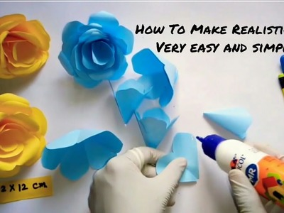 How to make realistic rose flower    DIY    By Creative Ideas   