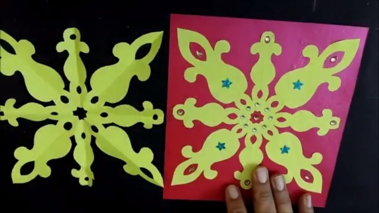 How To Make Simple Easy Paper Cutting Pattern Design Crafts