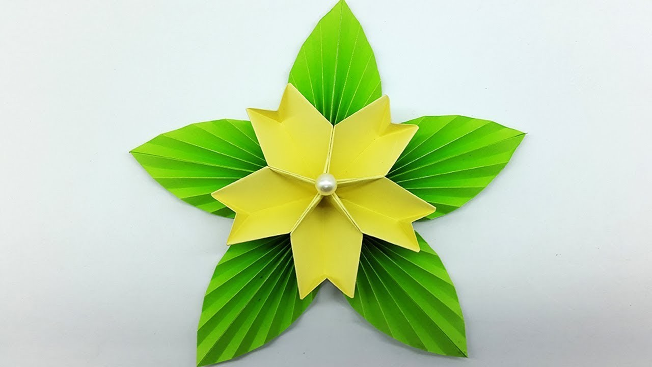 How to make simple paper flower for home decoration diy flower how to make simple paper flower for home decoration diy flower making tutorial mightylinksfo