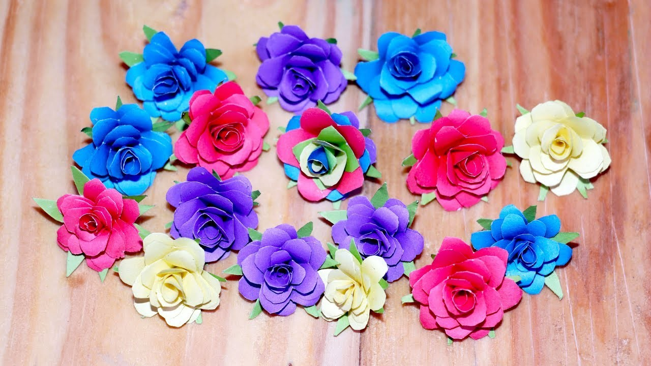 How To Make Small Paper Rose Flower Easy Crafts Ideas Easy
