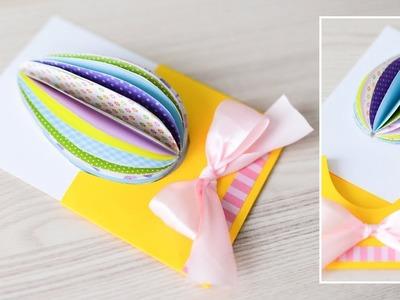 How to make : Spring Card with Easter Egg | Kartka Wielkanocna z Pisanką - Mishellka #284 DIY