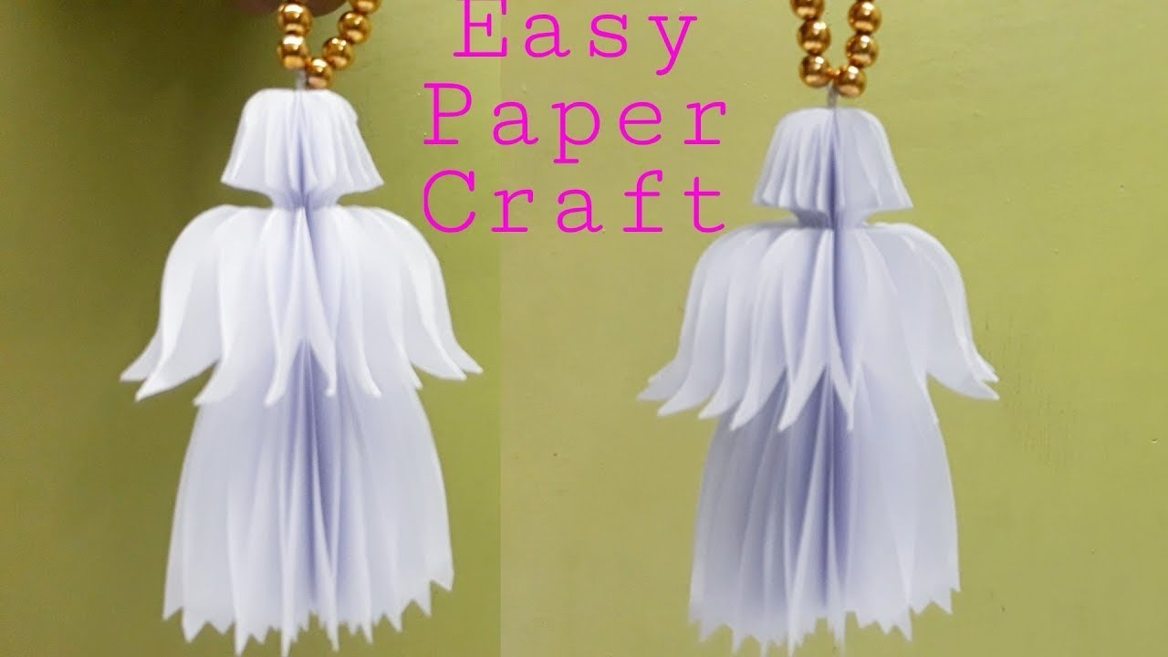 how to make wonderful paper angels easy art crafts