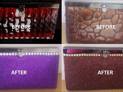 HOW TO MODIFY OLD CLUTCH TO A NEW ONE.BEST OUT OF WASTE IDEAS.NO SEW CLUTCH