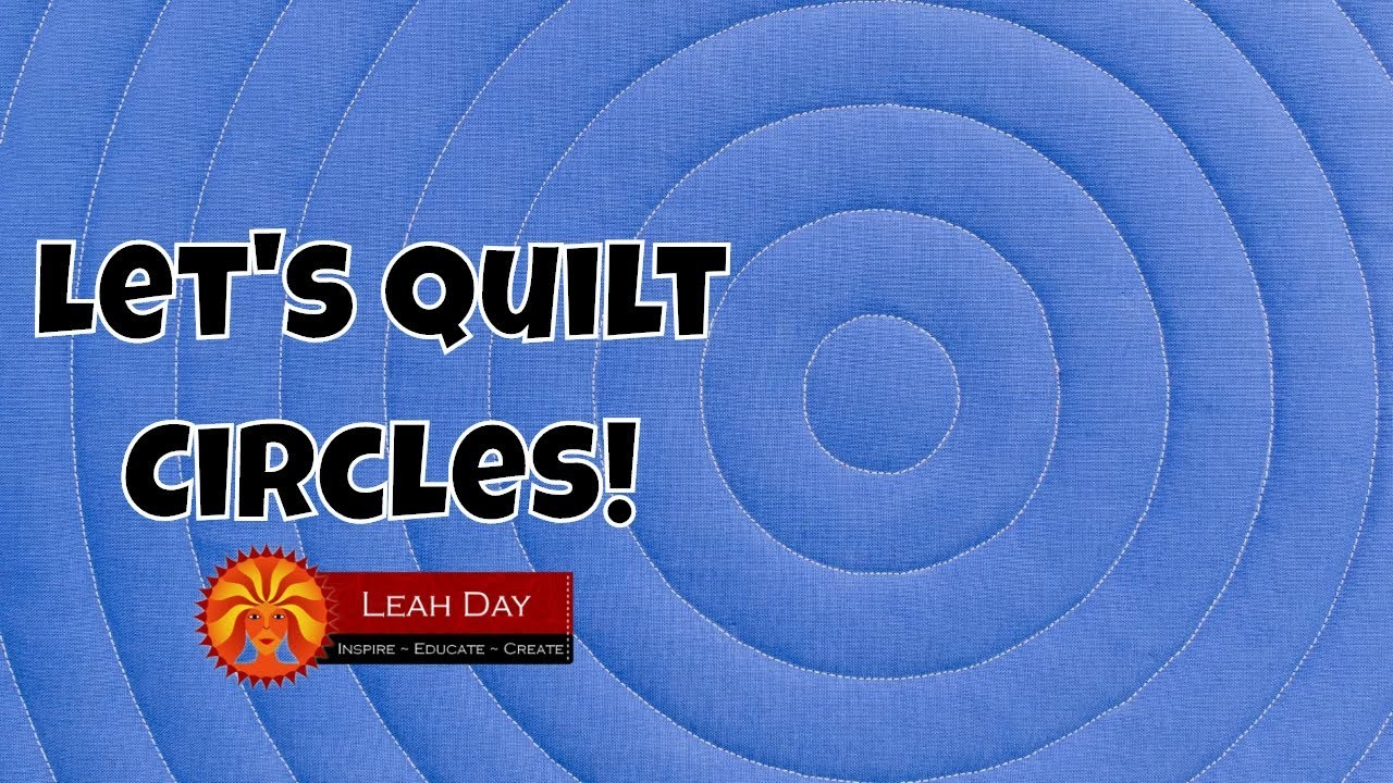 How to Quilt Concentric Circles - Walking Foot Quilting Tutorial