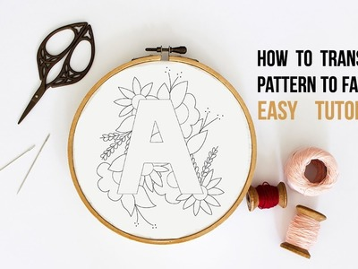 How to transfer PDF embroidery pattern to fabric using home printer