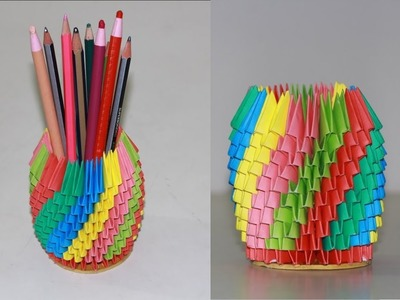 Make 3D pencil holder -  Mind Blowing Paper Tricks