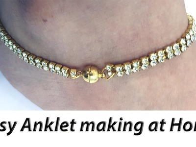 Mother's Day Gift Idea | How To Make Easy Anklet At Home | JK Arts 1382