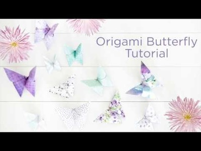 Origami Butterfly Tutorial Using the Secret Garden Paper Pack by Creative Memories