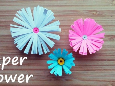 Paper Daisy. DIY Paper Daisy. How to make a paper Daisy. Paper flower
