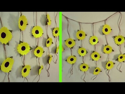 Paper Flower Wall Hanging - DIY Hanging Flower - Wall Decoration Ideas| artmypassion
