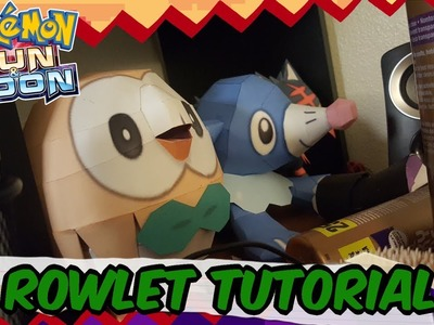 Papercraft Tutorial: How to make Rowlet