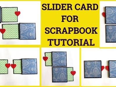 Slider Card For Scrapbook Tutorial By Sangitaa Rawat