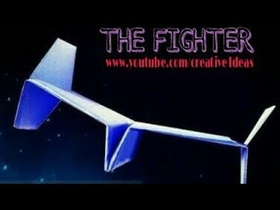 STAR WARS PAPER PLANE-How to make a paper airplane. . [Tie Fighter]
