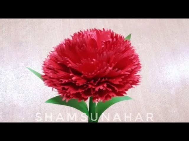 কাগজের ফুল | গাদা ফুল | Kagojer Ful | gada Flower | How To Make Paper Flower