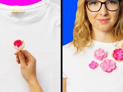 17 GORGEOUS AND SIMPLE DIY CLOTHES DECOR IDEAS