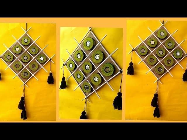 Amazing woolen wall hanging (Also using bottle caps)  l # DIY