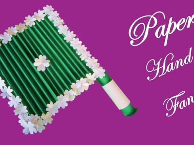 BA2 Make hand fan with paper || DIY Paper craft