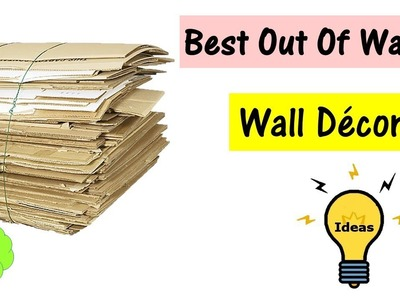 Best out of waste   wall decor   diy arts and crafts   easy Home decor idea   waste material craft